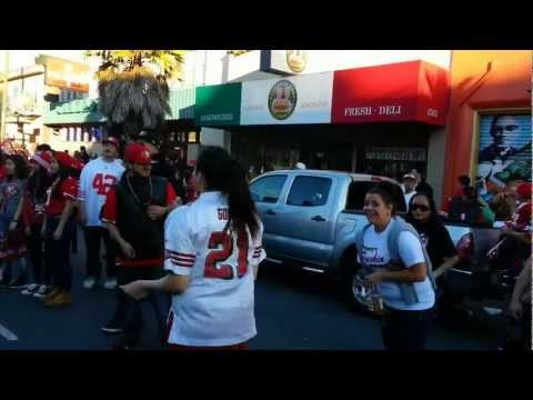 49ers NFC Championship Win Mission Street Celebration