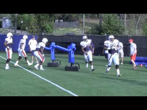Auburn defensive line drill 4-17-13