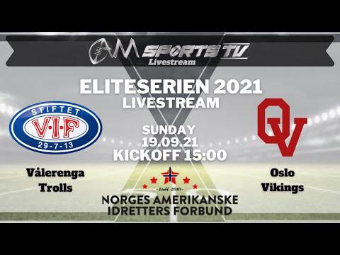 Eliteserien Livestream 19.09.21   Vålerenga Trolls vs. Oslo Vikings