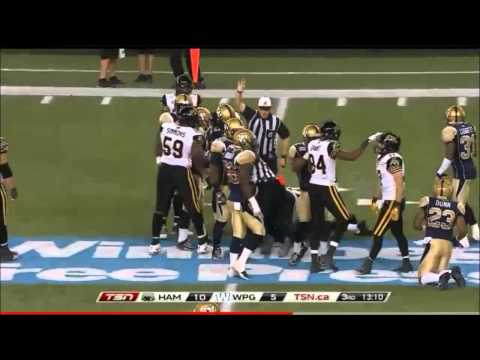 CFL 2014 Week 14 Hamilton TiCats at Winnipeg Blue Bombers TSN Sucks Game