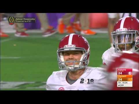 Alabama's onside kick against Clemson.