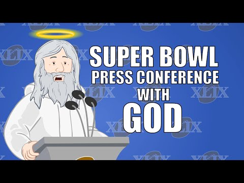 Super Bowl Press Conference with God