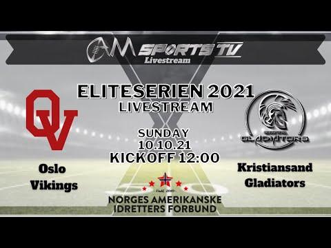 Eliteserien Livestream 10.10.21   Oslo Vikings vs. Kristiansand Gladiators
