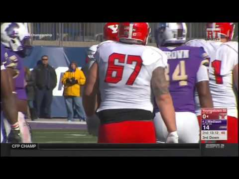 (FCS Championship) James Madison Dukes vs Youngstown State Penguins in 30 Minutes - 1/7/17
