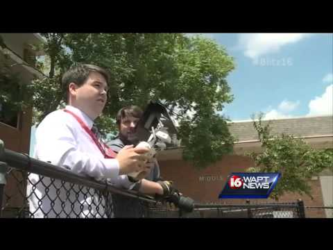 Jackson Academy using drones at football practice