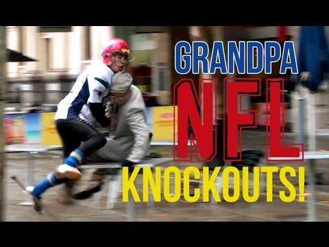 NFL Grandpa Knockout (Prank)