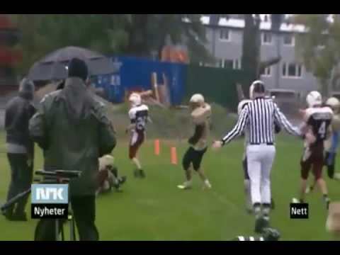 American Football in Østfold NRK (Norway) News Clip