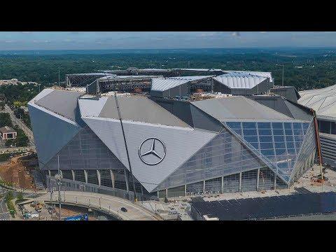 Mercedes-Benz Stadium Construction Time-Lapse - July 2017