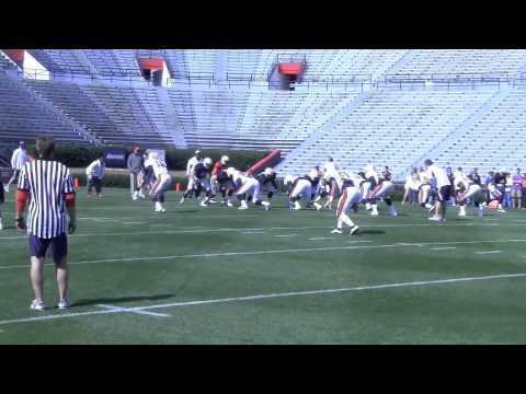 Auburn practice: Hurry-up drill 3-30-13