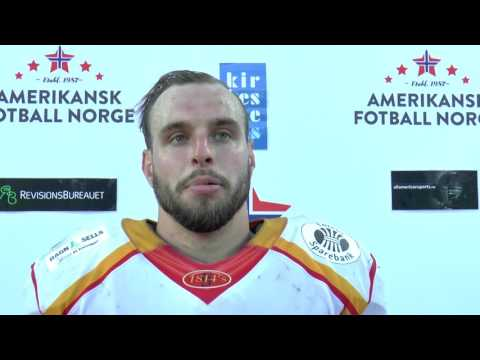 Interview with LB/RB Michael Hall, Norwegian Champ'ship game July 8th 2017
