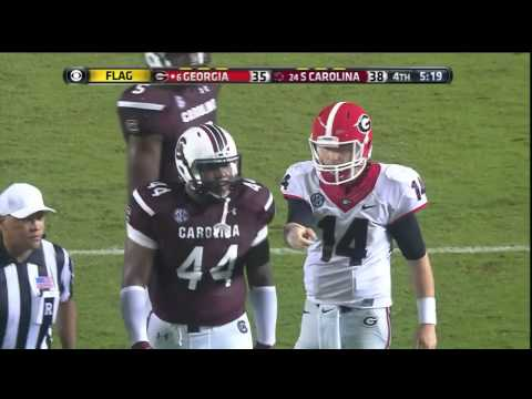 2014 USC vs Georgia - Gerald Dixon Sack (Intentional Grounding)