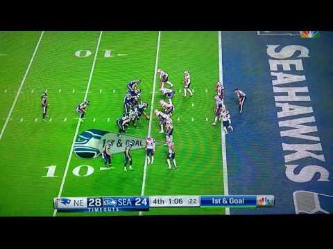 SUPER BOWL XLIX New England Patriots Game Winning Interception By Russell Wilson