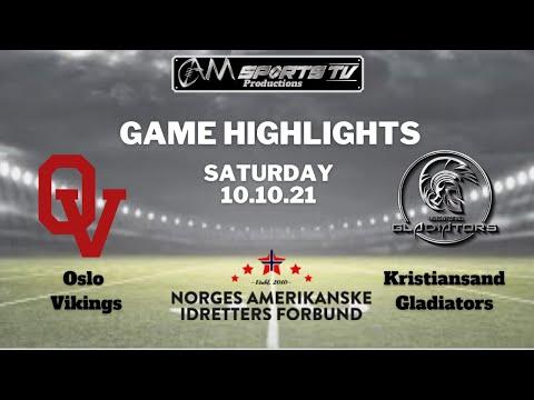 Eliteserie Highlights   Oslo Vikings vs Kristiansand Gladiators   10.10.21