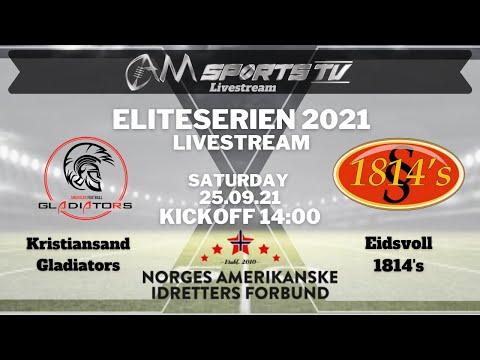 Eliteserien Livestream 25.09.21 | Kristiansand Gladiators vs. Eidsvoll 1814's