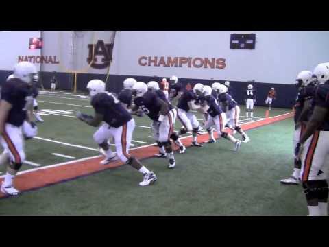 Auburn practice: Position drills 4-3-13