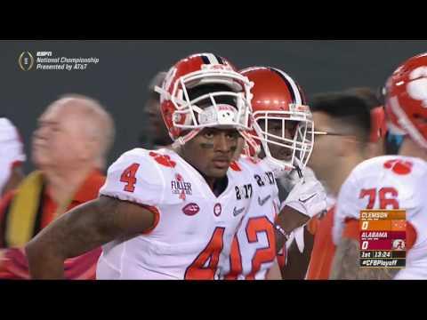2016 CFP National Championship - #2 Clemson vs. #1 Alabama (HD)