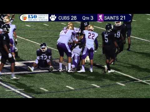 Loyola High School Football Home Game September 12, 2014