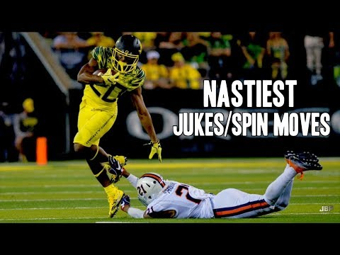 Nastiest Jukes/Spin Moves of the 2016-17 College Football Season ᴴᴰ