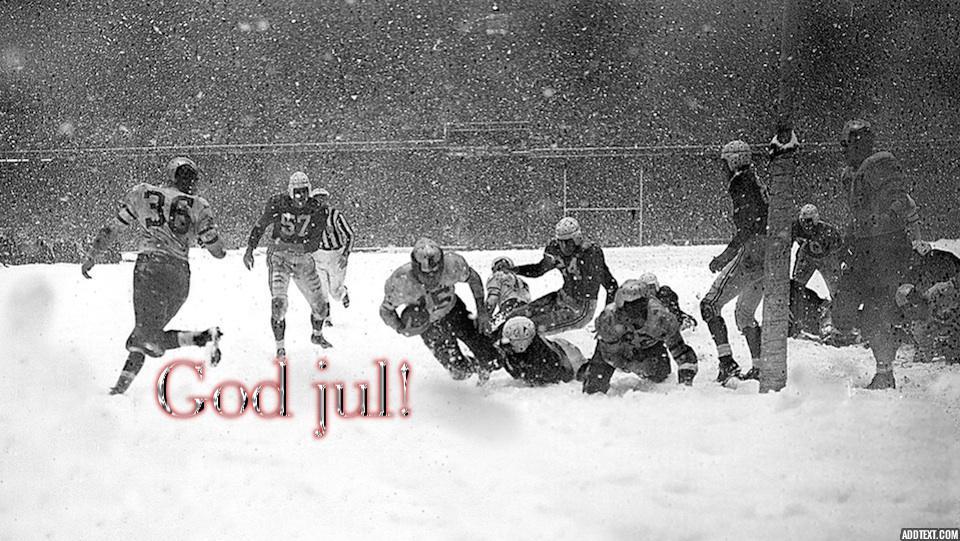 God jul fra Amerikansk Fotball