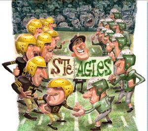 For å bestå under krigen, slo Steelers og Eagles seg sammen.