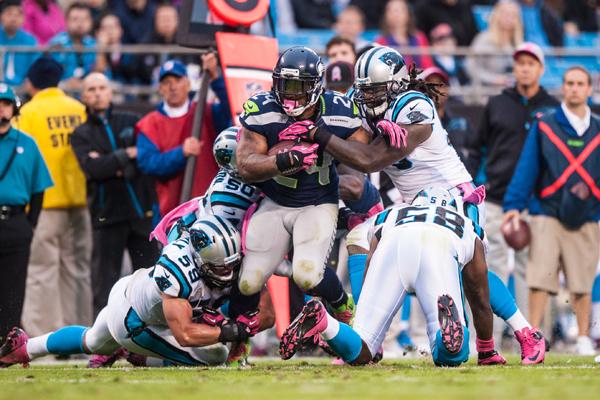 For å stoppe Seahawks, må Panthers komme seg tidlig oppi Lynch og Wilson.