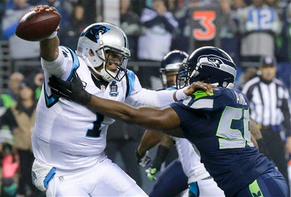 8APTOPIX Panthers Seahawks Football