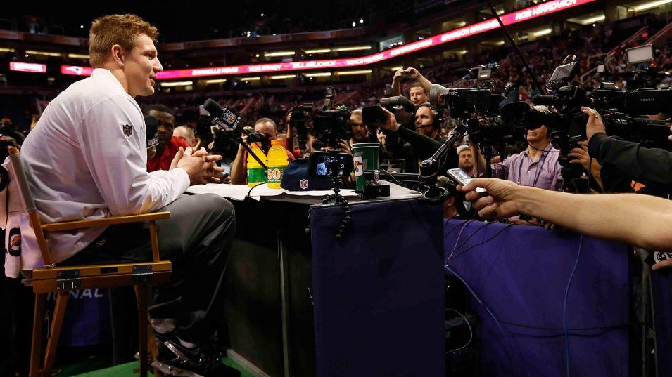 SB Media Day - Gronkowski - Matt York - AP