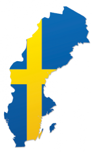 flag map of sweden