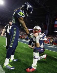 SB XLIX Sherman og Brady etter kampen