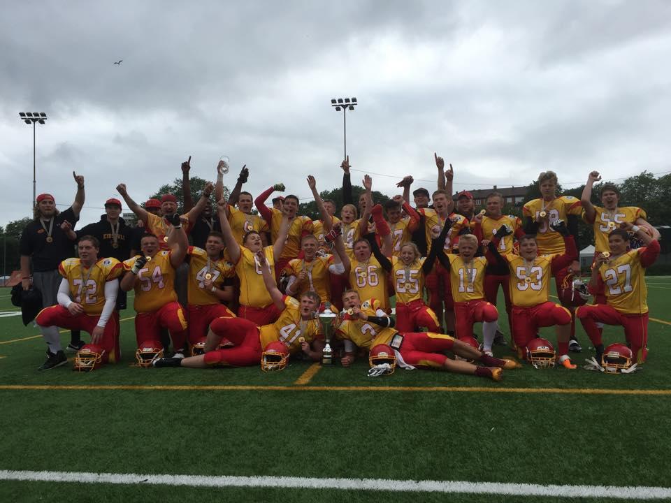 Norgesmestere U17 2015 - foto Amerikansk Fotball Norge