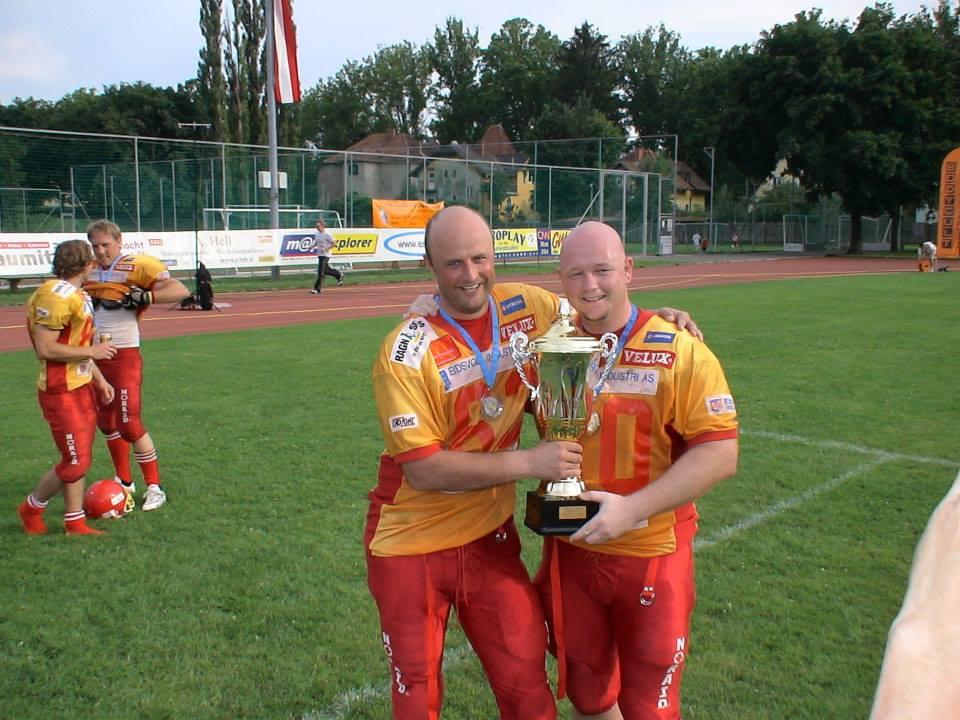Jarle Østhagen og Kenneth Andersen, EFAF Cup finalen 2006