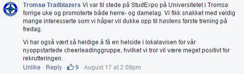 Tromsø rekrutterer høsten 2015