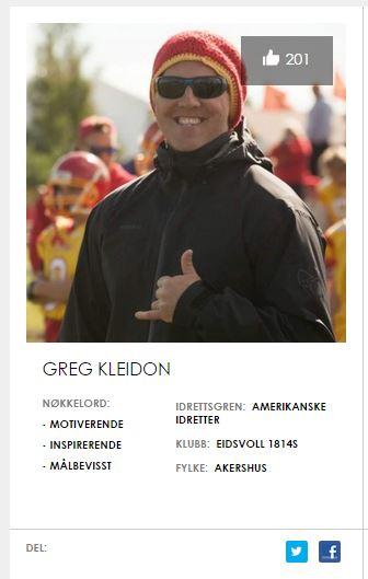 Greg - Norges beste trenerforbilde