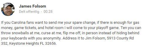 Jim Folsom vil ha pengene dine