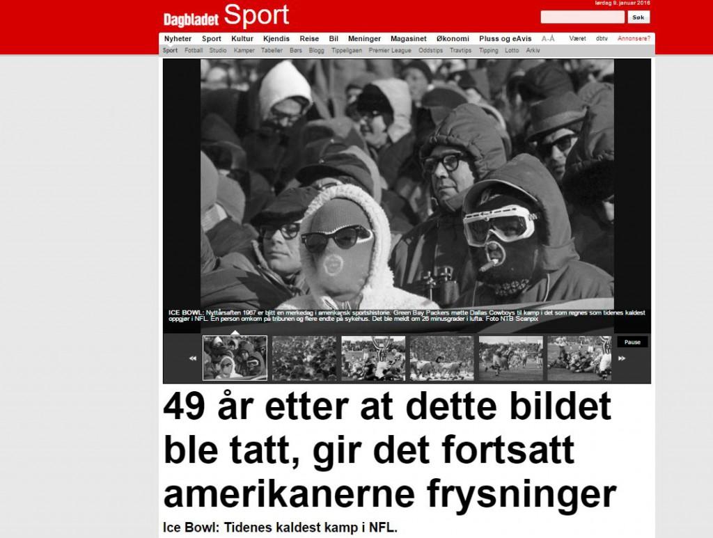 Dagbladet faksimile - Ice Bowl-sak 20160109