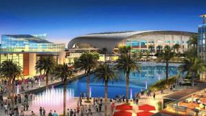 Prosjektskisse for City of Champions Stadium i Inglewood, Rams-eier Stan Kroenkes forslag