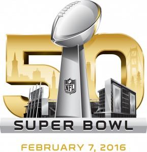 Super Bowl 50 - logo on white