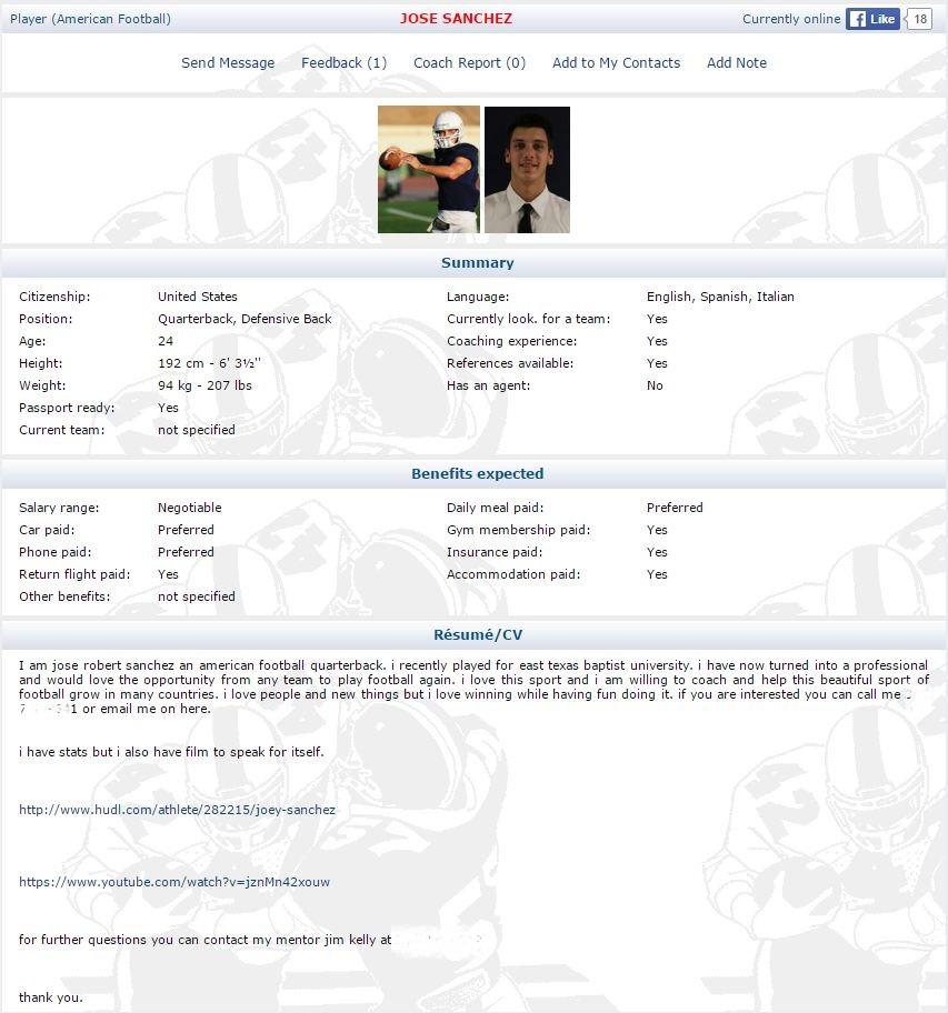 Jose Joey Sanchez profile 20160223 anonymisert tlfnr