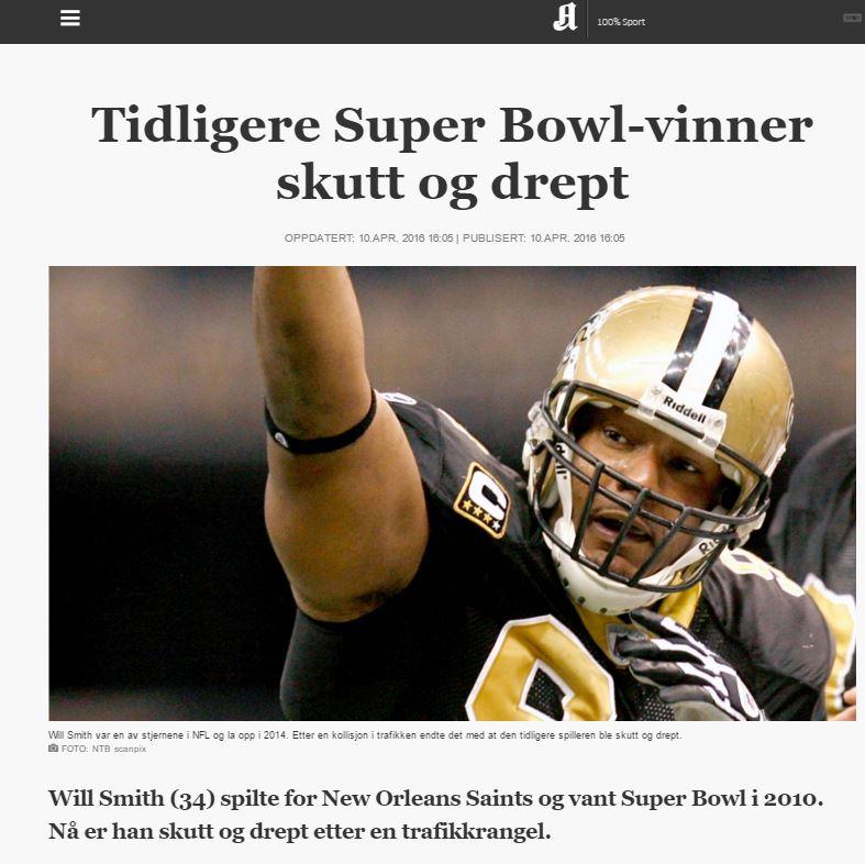 Will Smith drept - Aftenposten 20160410