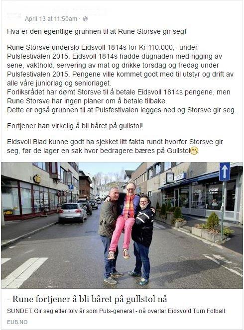Eidsvoll - dugnadssak 2016