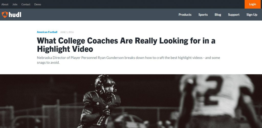 Hudl - what college coaches are looking for in a highlight video